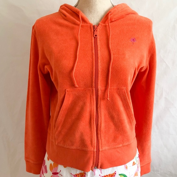 Lilly Pulitzer Tops - Lilly Pulitzer Terry Cloth Full Zip Hoodie • Sz S